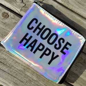 Choose Happy Pouch with Zipper NEW